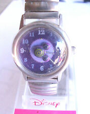 Lorus Mickey Mouse Watch Stainless Steel Stretch Band Purple Mickey Head NEW