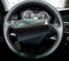 Para Bmw Serie 3 E90 E91 2005-2011 Real De Cuero Negro cubierta del volante Nuevo
