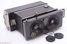 ICA POLYSCOP 6X13CM 3D STEREO, PANORAMA CAMERA ZEISS 9CM 6.3 W/ PLATE BACK