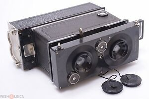 ✅ ICA POLYSCOP 6X13CM 3D STEREO, PANORAMA CAMERA ZEISS 9CM 6.3 W/ PLATE BACK