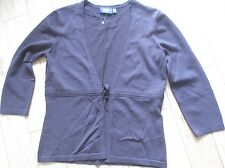 Mexx Ladies Cardigan Bown size small 3/4 sleeves tie front