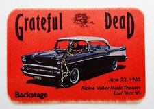 Grateful Dead Backstage Pass 1957 Chevy Bel Air Car Alpine Valley Wi 6/22/1985