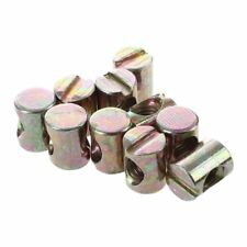 10pcs M6 Barrel Bolts Cross Dowel Slotted Furniture Nut for Beds Crib Chairs WS