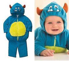 Carter's Baby Plush Costume Blue 2 Pc Fleece Hoodie Pants 6-9 Month NEW