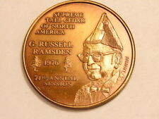 1976 Tall Cedars bronze medal:G. Russell Ramsden,Supreme Tall Cedar of N. A.