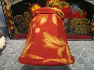 Stunning Red Floral Motif Mini Clip On Lamp/Chandelier Shade