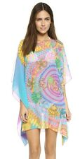 VERSACE MULTICOLOR SILK PRINTED KAFTAN TOP COVER DRESS  IT38(XS) NWT AUTHENTIC!