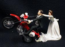 Off Road Dirt Bike Motorcycle wedding Cake topper Honda Racing motorcross Groom