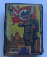 NAZI GERMANY MATCHBOX GENERAL NAZI SALUTE, NAZI EAGLE SHIELD AND WEHRMACHT CROSS