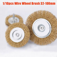 1/10pcs Copper Wire Wheel Brush Grinder Metal Polishing High Quality