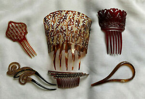 Vintage Hair Comb Lot of Six