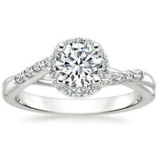 Round Cut All Sze 6 7 8 Diamond Engagement Solitaire Ring 1.20 Ct 14K WhiteGold