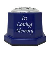 Loving Speicher Blau Plastik Grab Vase Blumen Halter Erinnerung Tribut