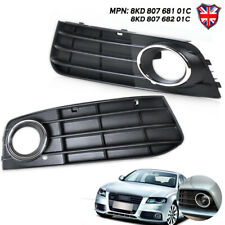 Left Right Bumper Fog Light Lamp Cover Grille for 09-11 Audi A4 B8 8KD80768101C