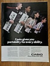 1983 Casio Keyboard Ad  MT-65 MT-45 PT 30 & PT 20