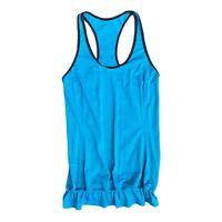 Lululemon Singlet Tank Top Yoga Womens Sz 4 Grey Teal blue loose athletic