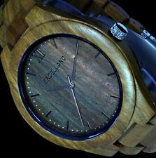 Excellanc Herren Uhr Holz 2800049-002 Holzuhr Armbanduhr Sandelholz