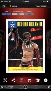 Topps WWE Slam *Digital* 2016 Heritage Record Breaker - Finn Balor 1354cc