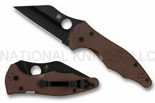Spyderco Yojimbo 2 C85GPBNBK2 Knife, Black S90V Blade, Brown G-10 - Auth. Dealer