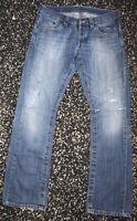 Mens Vintage Mustang Jeans Denim Blue W36 L34