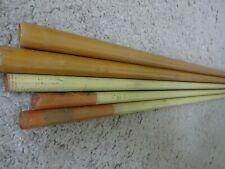 "New Listing5 Rod Building Wrapping Vintage sanded Yellow fiber glass blanks 64-70"" Sabre?"