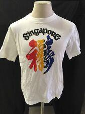 Vintage 80s Singapore Tourist Vacation Tee Shirt T-Shirt Size 42 M-L Asian