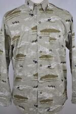 NEW Woolrich MEDIUM Moss Elk Lime Color Outdoor Casual Shirt Hunt Pocket Trail