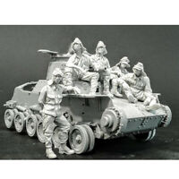 1/35 Resin Japanese Tank Crew 5 Figures Kit No Tank Unpainted Unbuild 4526