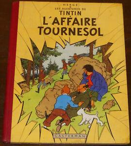 TINTIN -18- / L'affaire Tournesol /  EO Fr B19 1956 / BE+
