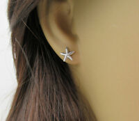 Starfish Earrings 925 Sterling Silver Beach & Nautical Ear Studs Post Earrings