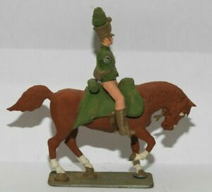 Metal Toy Soldier Horses - 54mm Scale 5 Horses and 1 Guy No Arms