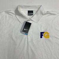 NWT Nike Golf Dri-Fit Polo Shirt Men's 2XL XXL Short Sleeve White 100% Polyester