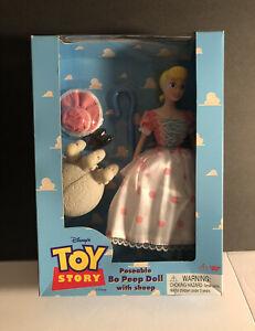 VTG POSEABLE BO BEEP DOLL W/ SHEEP Toy Story Thinkway Toys 1995 Disney MIB