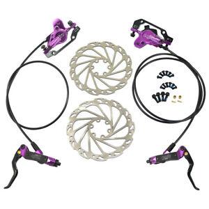 JUIN TECH DB1 MTB E-bike Hydraulic Dual-Piston Disc Brake Set w/160mm Rotor, PL