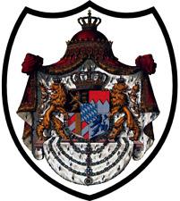Königreich Bayern Wappen Breite ca. 28 cm Höhe ca.25 cm rückenaufnäher