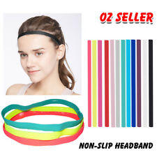 Thin SINGLE Band Elastic Sports Gym Anti Slip Headband Rubber Hair Band