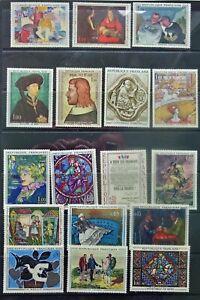 France. Vintage stamps lot 1, mint never or lightly hinged