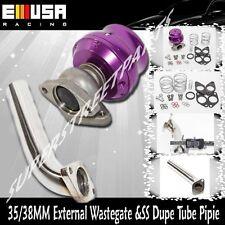 Dump Tube Pipe +35/38MM 2-bolt External Turbo charger Manifold Wastegate