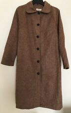 Womens Belted Coat Winter Brown Long Jacket Size:44 (Europe)