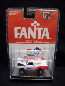 M2 Machines Fanta Strawberry 1973 Chevy Cheyenne Super 10 4x4 Limited Edition.