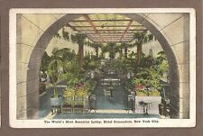 Vintage Postcard 1922 Commodore Hotel Lobby New York City