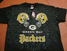 GREEN BAY PACKERS HELMETS ABSTRACT NFL TEAM APPAREL BRAND T- SHIRT- MED NEW NWT