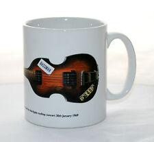 Guitar Mug. Paul McCartney's Hofner 500/1 with Bassman sticker Illustration.