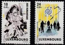 Luxemburg postfris 2001 MNH 1535-1536 - Aktie voor Vluchtelingen Kosovo