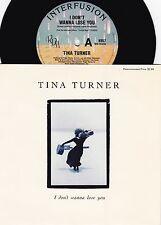 Tina Turner ORIG OZ PS 45 I don't wanna lose you NM '89 Interfusion R&B Pop