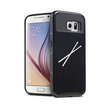For Samsung S5 S6 S7 Edge S8 + Shockproof Hard Soft Case Cover Drum Sticks