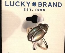 Lucky Brand Egyptian Scarab Gold-Tone Ring Size 7 New Tags MSRP $29