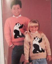 Kids Boy Girl Panda & Polar Bear Walrus Kangaroo dinosaur Knit Sweater Patterns
