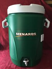 Rubbermaid Water/Juice Green Dispenser 5 Gallon Cooler With Menards Logo