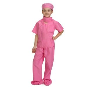 Dress Up America Pink Doctor Scrubs Toddler Costume Kids Pretend Play Outfit
